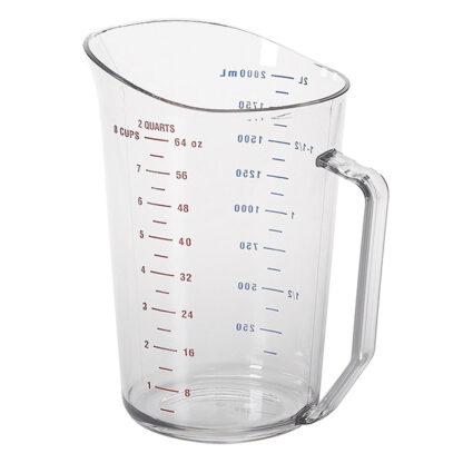 Tasse à mesurer polycarbonate clair 2 litres Cambro