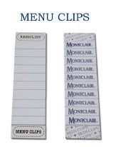Clips pour menu 100/paquet