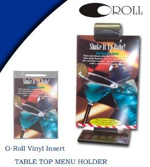 """Plastique rigide 4½"""" x 6¾"""" pour présentoir O-roll"""