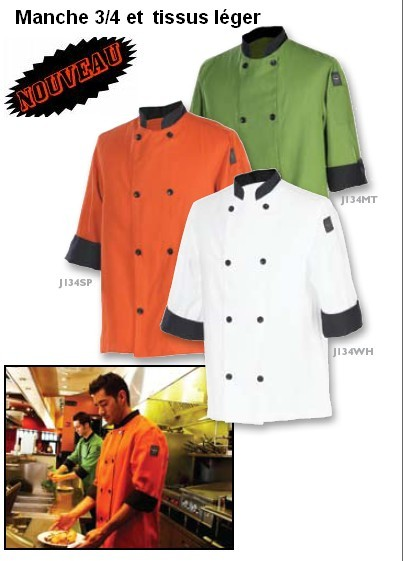Veston de chef couleur menthe chef Revival