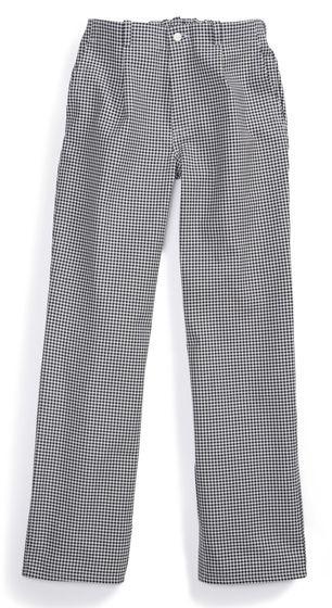 Pantalon pour cuisinier à motif pied de poule