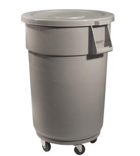 Poubelle 44 gallons avec couvercle et socle