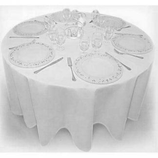 Nappe blanche ronde 90'' 100% polyester