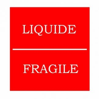Étiquette fragile mention liquide