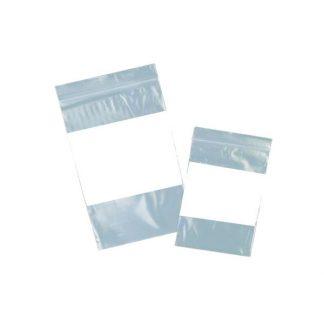 Sacs refermables en plastique 3'' x 5'' avec bloc d'écriture