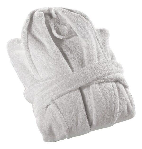 Peignoir robe de chambre blanche ratine 100% coton