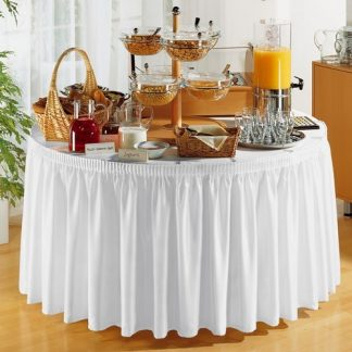 Jupe blanche 13' pour table