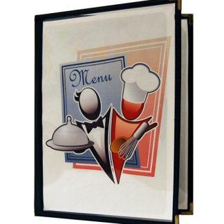 Couverture de menu transparente 2 volets 8-1/2'' x 11''