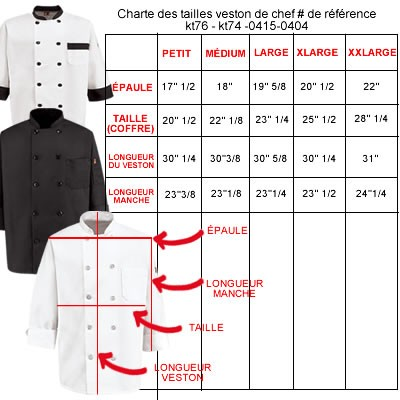 VESTON CHEF MANCHE 1/2   POLY/35%COTTON