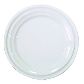 Assiette blanche plastique 9'' 500/caisse