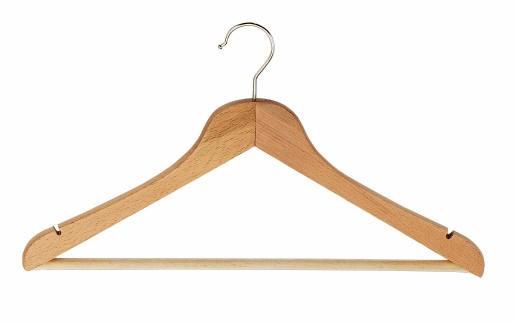 Cintre bois plat crochet standard