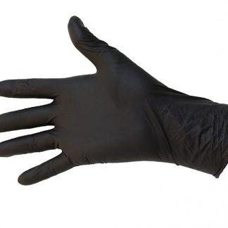 Gants nitrile noir résistants aux acides 100/pqt