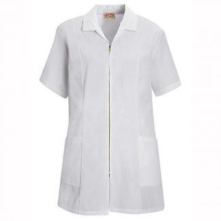 Veste de laboratoire pour femme à manches courtes