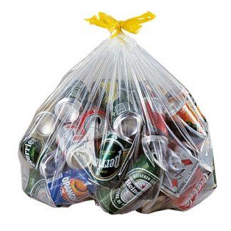Sacs à recyclage et ordures clair