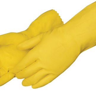 Gant jaune pour la plonge en latex (en paire)