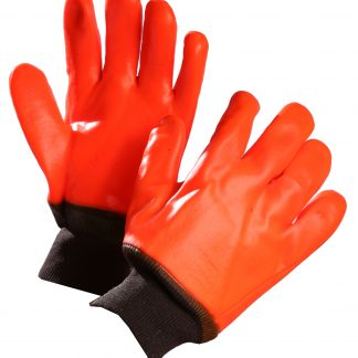 Gant doublé en pvc orange