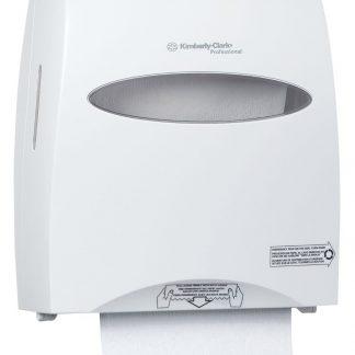 Distributeur blanc pour essuie-mains en rouleaux