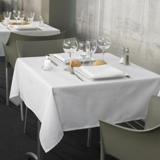 Nappe blanche 63'' x 63'' 100% polyester