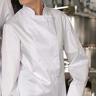 Veste de chef blanche manches longues