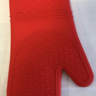 Mitaine rouge résistante à la chaleur en silicone 12''