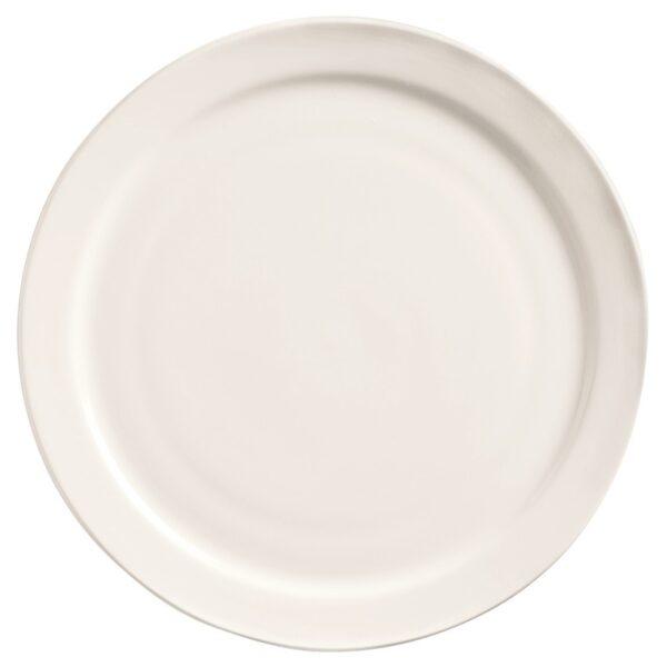 """Assiette à diner rebord étroit 9 ½"""" 2 douzaines/caisse"""