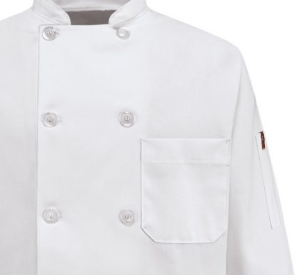 VESTON CHEF65% POLY/35%COTTON.