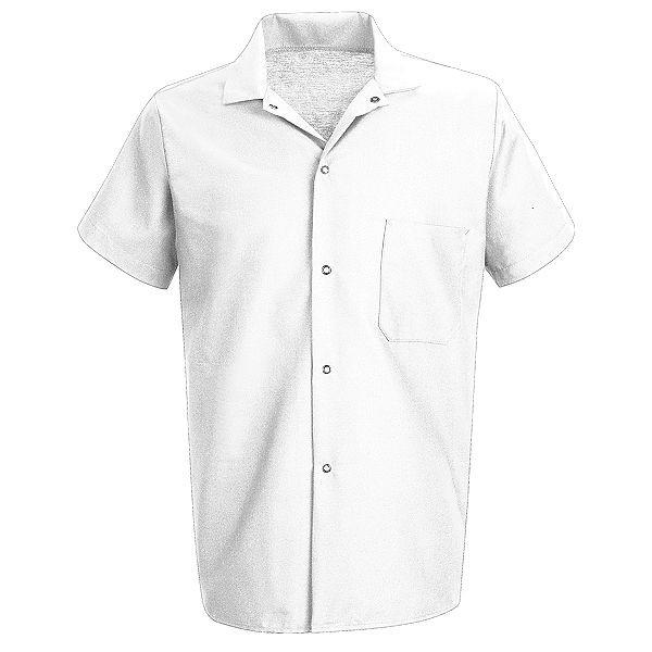 Chemise de cuisinier blanche manche courte