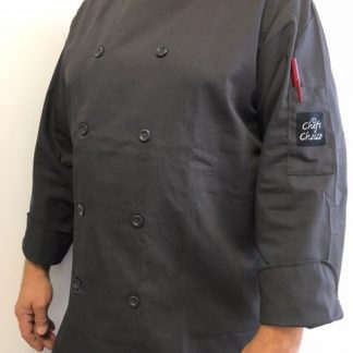Veston chef charcoal manches longues