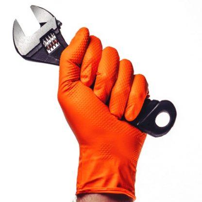 Gants nitrile orange