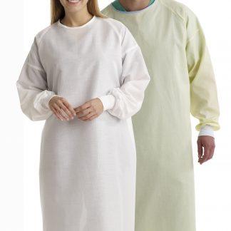 Jaquette pour patient jaune de protection lavable