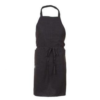 Tablier noir 32'' x 34'' 2 poches 100 % polyester