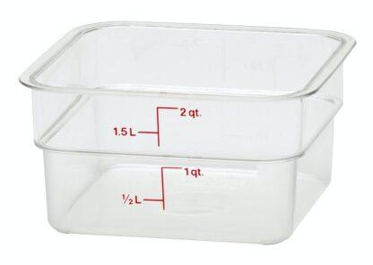 Contenant CamSquare gradué clair 1,9 litres Cambro
