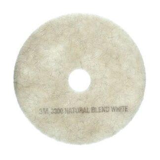 Tampons blanc mélange de fibres naturelles pour planchers 3300 3M