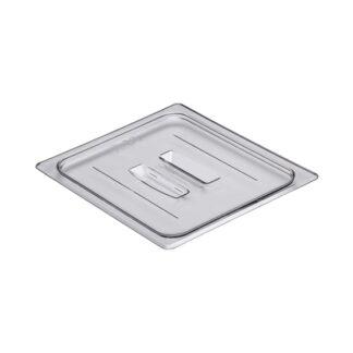 Couvercle avec poignée polycarbonate clair 1/2 Cambro
