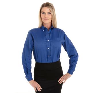Chemise bleu marine pour femme à manches longues