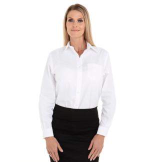 Chemise blanche pour femme à manches longues