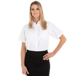 Chemise blanche pour femme à manches courtes
