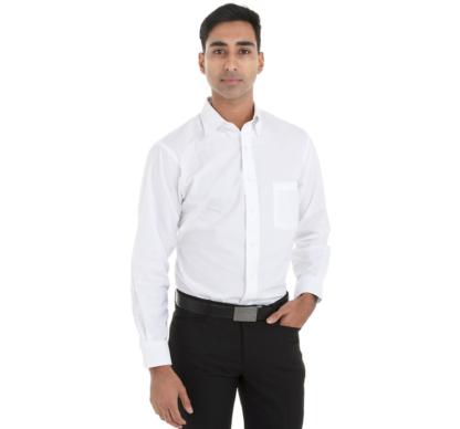 Chemise blanche pour homme à manches longues