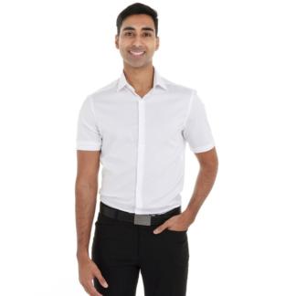 Chemise blanche pour homme à manches courtes