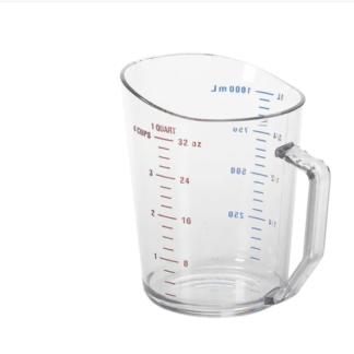 Tasse à mesurer polycarbonate clair 1 litre Cambro