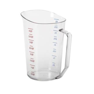 Tasse à mesurer polycarbonate clair 4 litres Cambro