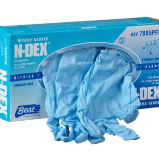 Gants Best N-Dex en nitrile bleu 8 millimètres 50/boite