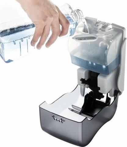 distributeur savon mousse intérieur