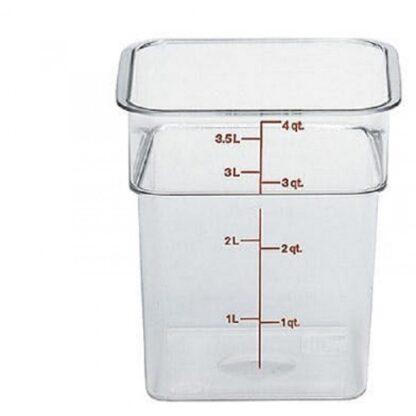 Contenant CamSquare gradué clair 3.8 litres Cambro