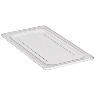 Couvercle plat polycarbonate clair sans trou 1/3 Cambro