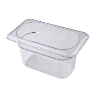 "Bac gastronorme polycarbonate clair 1/9 4"" Cambro"