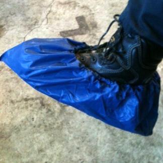 Couvre chaussures et bottes bleu